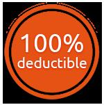 100% deductible