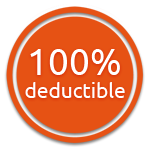 100% deductible